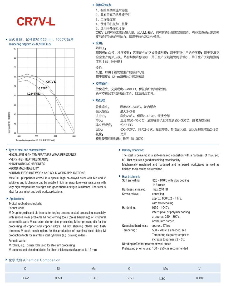 CR7V-L模具钢